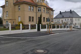 Goethestraße 2 mit neuer Einfriedung