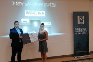 """2. Platz in der Kategorie """"Gesamtsieger"""" im Web Rating des vdw Sachsen"""