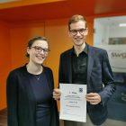 SWG-Mitarbeiter Julian Knoll als bester Azubi in der Wohnungswirtschaft ausgezeichnet